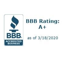 Better Business Bureau rating of A+