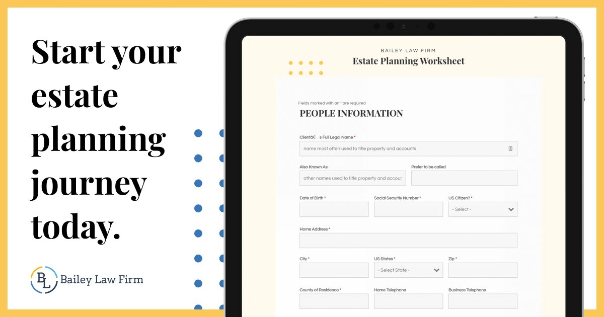 Start your estate planning journey today. Click to get started.