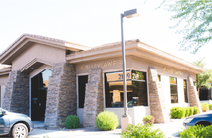 Bailey Law Firm office building in Tempe, AZ