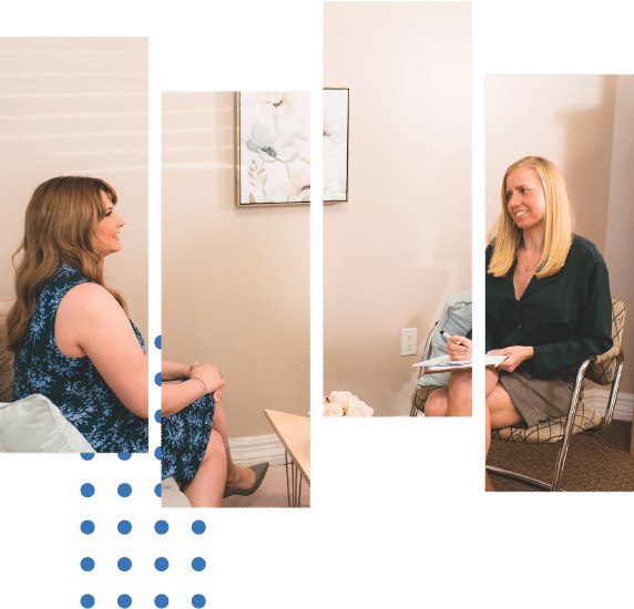 Jenna Bailey and Casey DeLisa-Hughes in conversation about a client